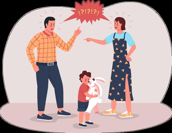 Parents arguing Illustration