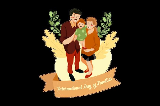 Parents with child Illustration