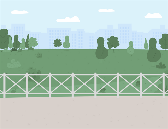 Park and recreation area Illustration