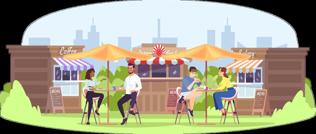 Park cafe Illustration