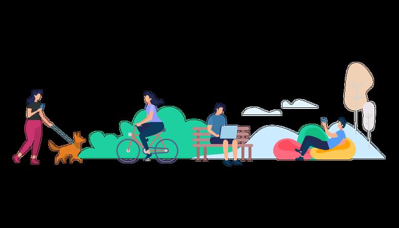Park scene Illustration