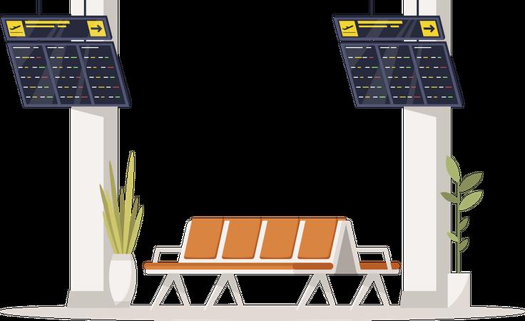 Passenger waiting lounge Illustration