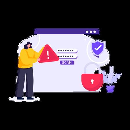 Password Website Illustration