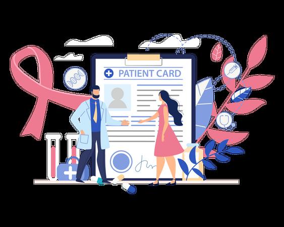Patient card Illustration