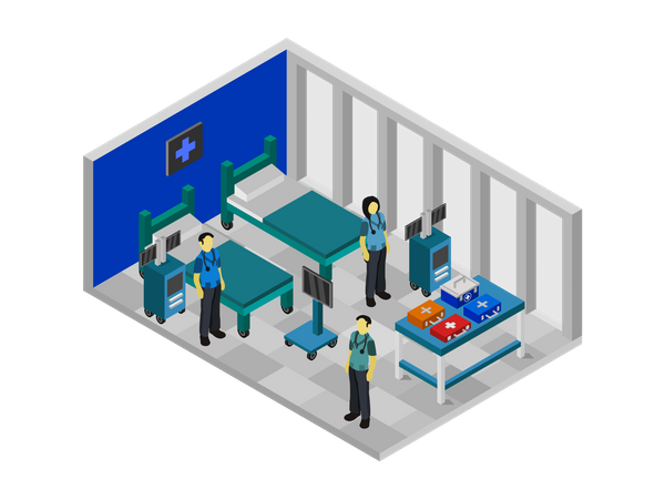 Patient room Illustration