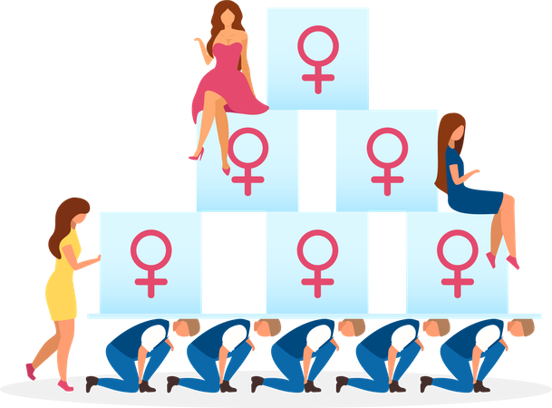 Patriarchal barrier males in politics Illustration