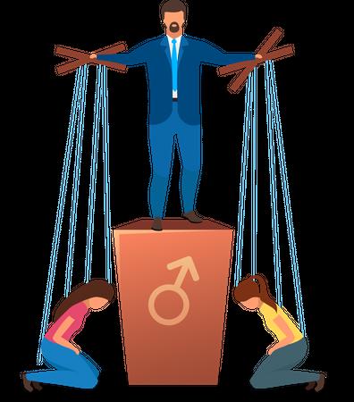 Patriarchy political system Illustration