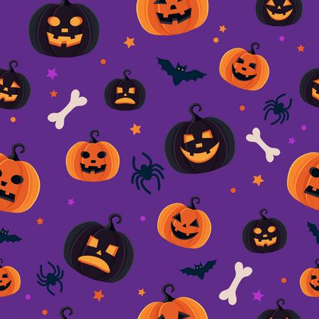 Pattern of Spooky Halloween night Illustration