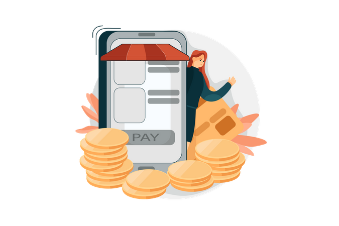 Pay By Card Illustration