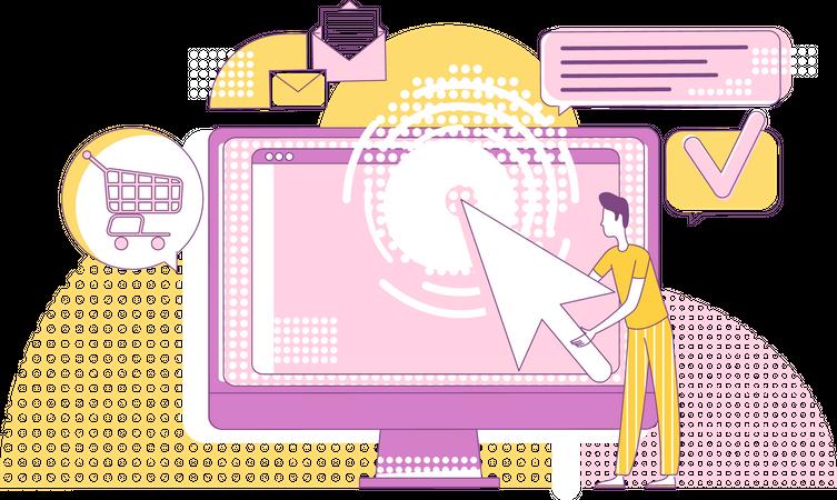 Pay per click marketing Illustration