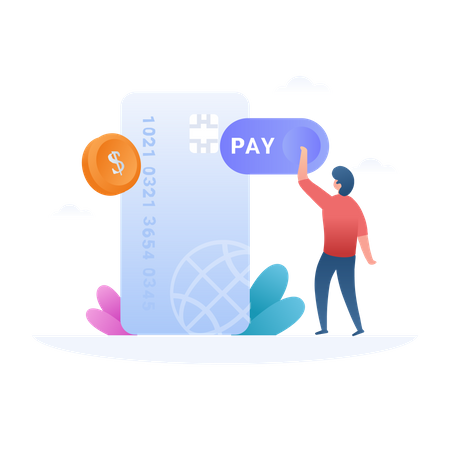 Pay With Credit Card Illustration