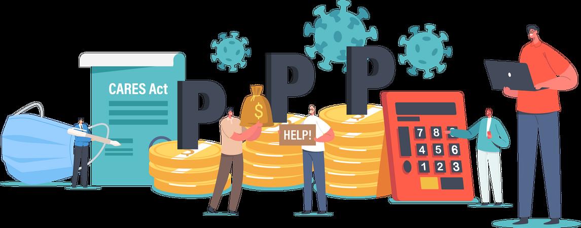 Paycheck Protection Program Business Illustration