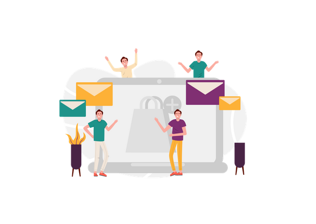 Payment confirmation mail Illustration