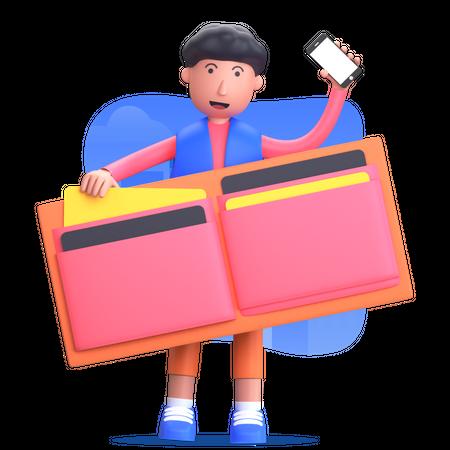 Payment method online Illustration