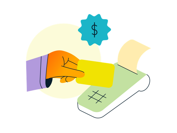 Payment via card Illustration