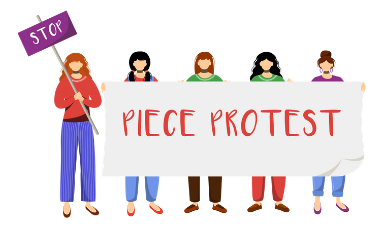 Peace Protest Illustration