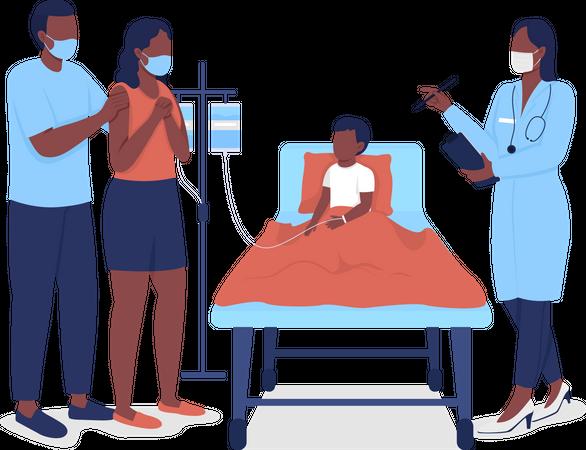 Pediatric hospitalization Illustration