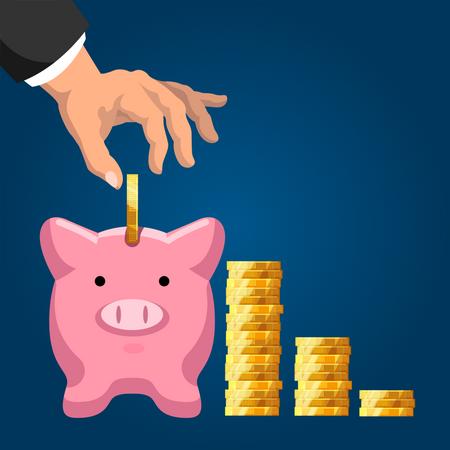 Pension fund savings Illustration