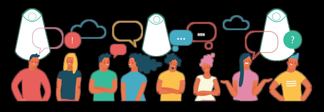 People Conversation Illustration