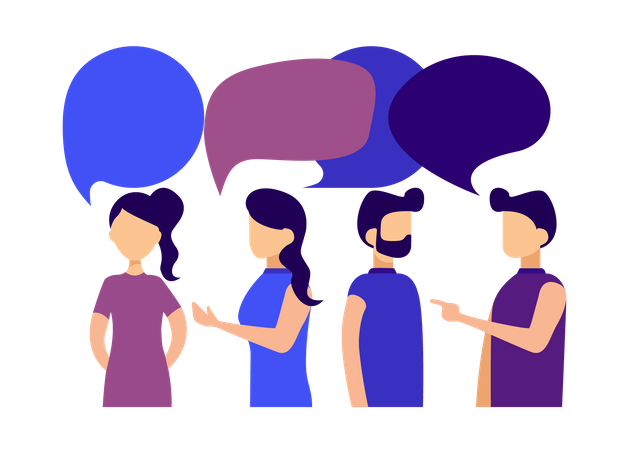 People doing discussion Illustration