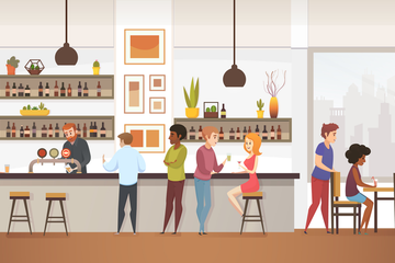 Restaurant Kitchen Illustration Pack