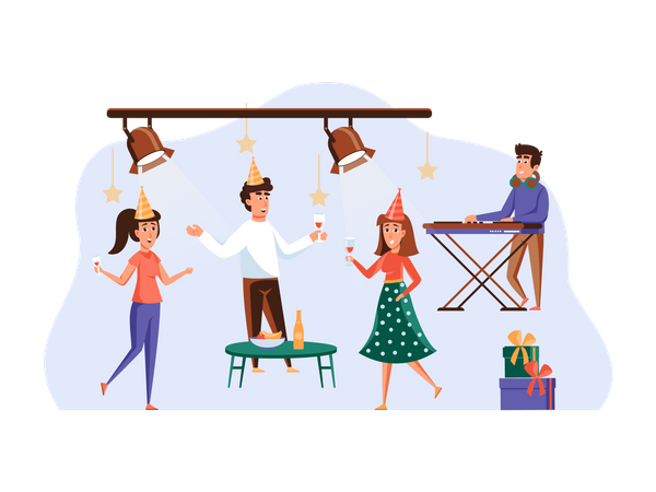 People in party Illustration