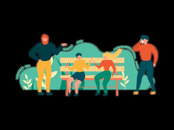 People Outdoors Activity Illustration