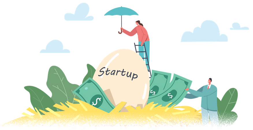 People Start Up Project Illustration