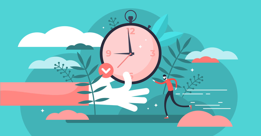 Perfect schedule and accurate control for lifestyle efficiency Illustration