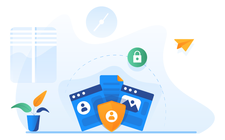 Personal Data Security Illustration