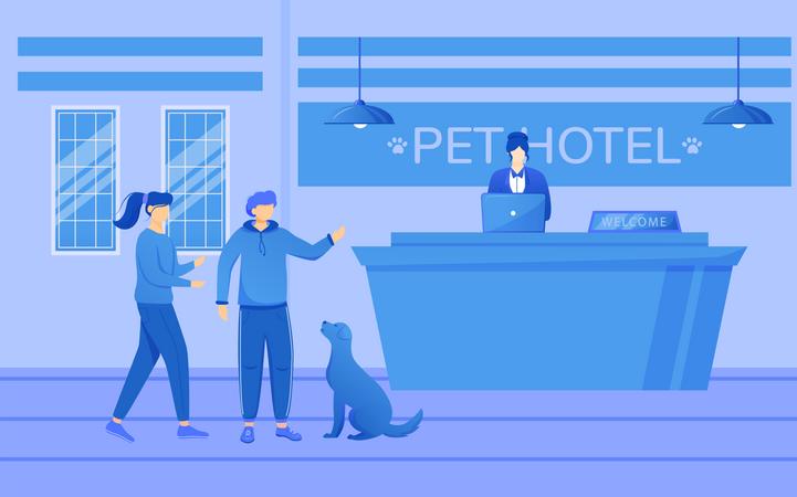 Pet hotel Illustration