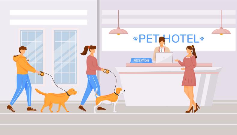 Pet hotel hall Illustration