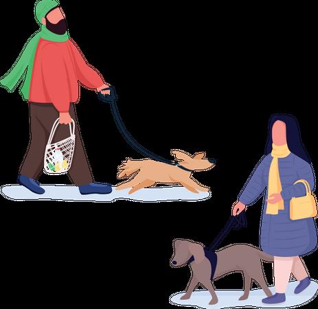 Pet owners Illustration