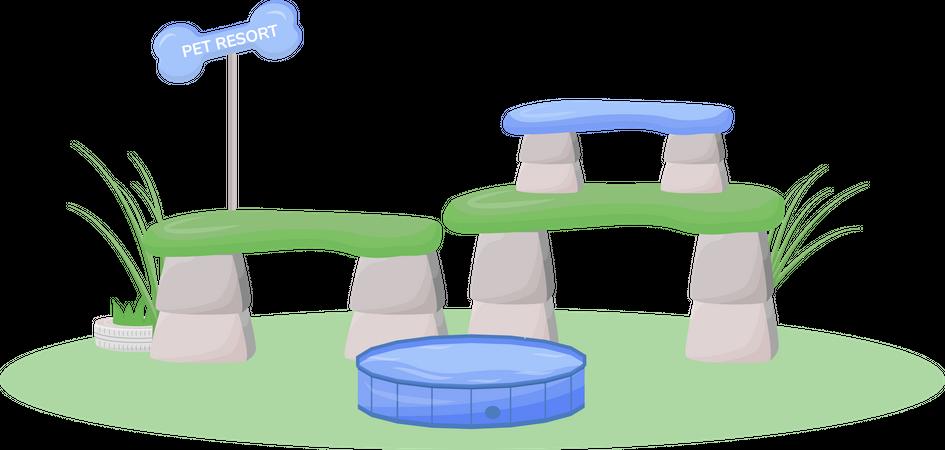 Pet resort Illustration