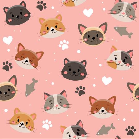 Pets pattern Illustration