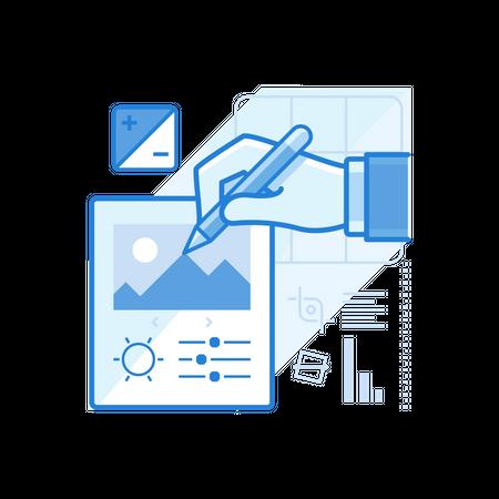 Photo Editing Services Illustration