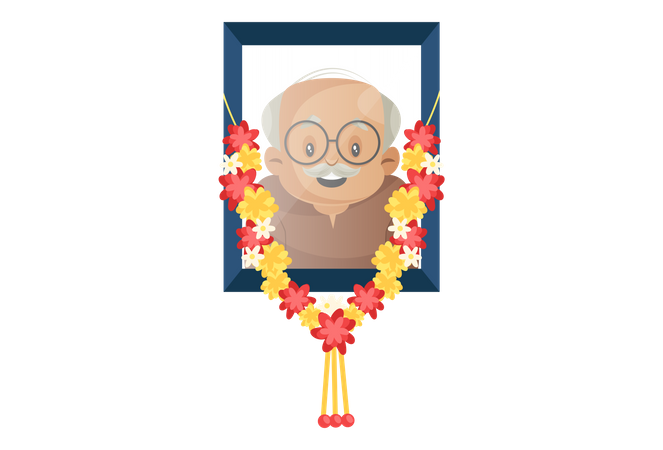 Photograph of Dead grandfather Illustration