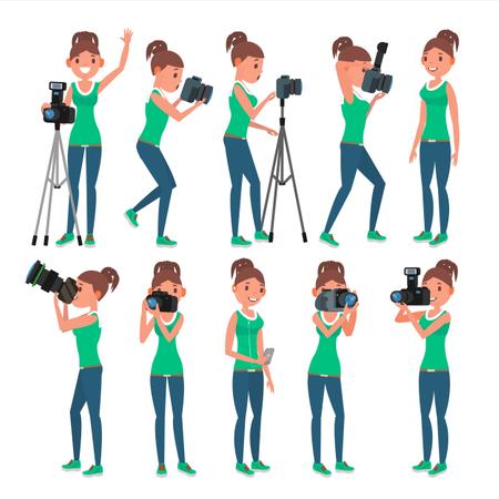 Photographer Woman Illustration