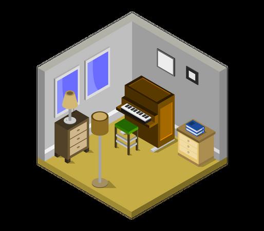 Piano room Illustration