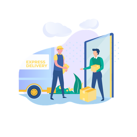 Pick up services to your place Illustration