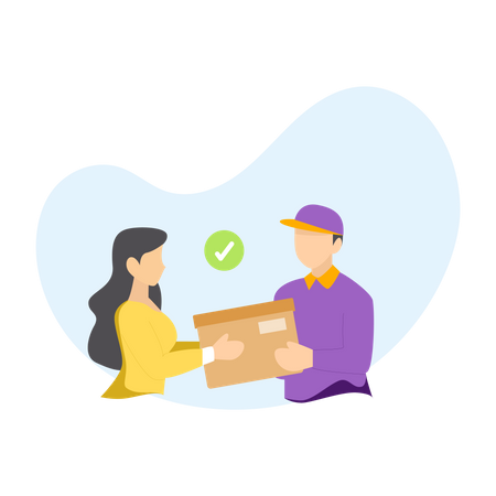 Pickup your delivery Illustration