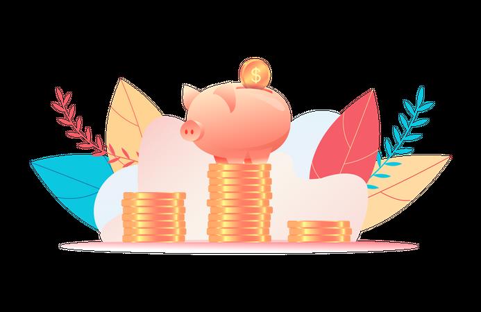 Piggie bank Illustration