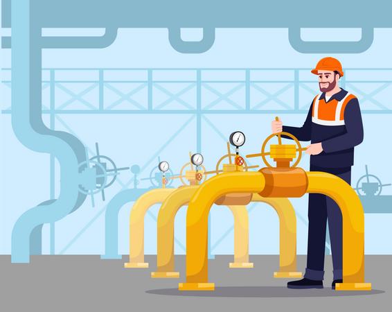 Pipeline maintenance Illustration