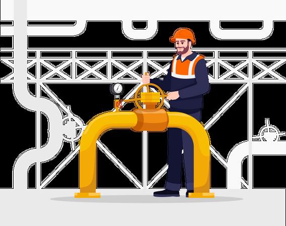 Pipeline repair Illustration