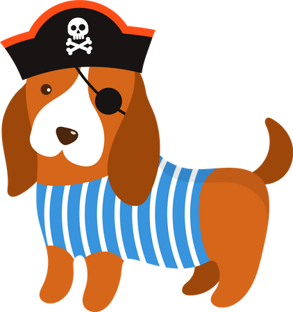 Pirate dog Illustration