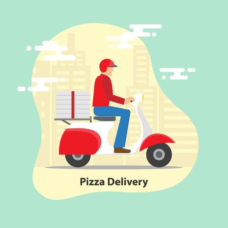 Pizza Delivery Service Illustration