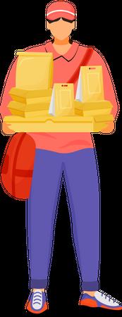 Pizza deliveryman Illustration