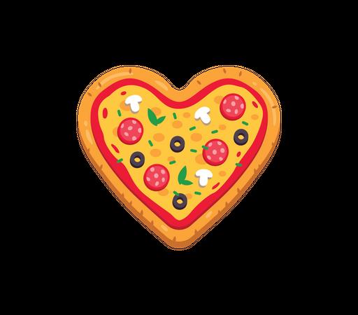 Pizza love Illustration