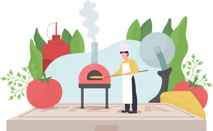 Pizza maker Illustration