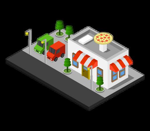 Pizza Restaurant Illustration
